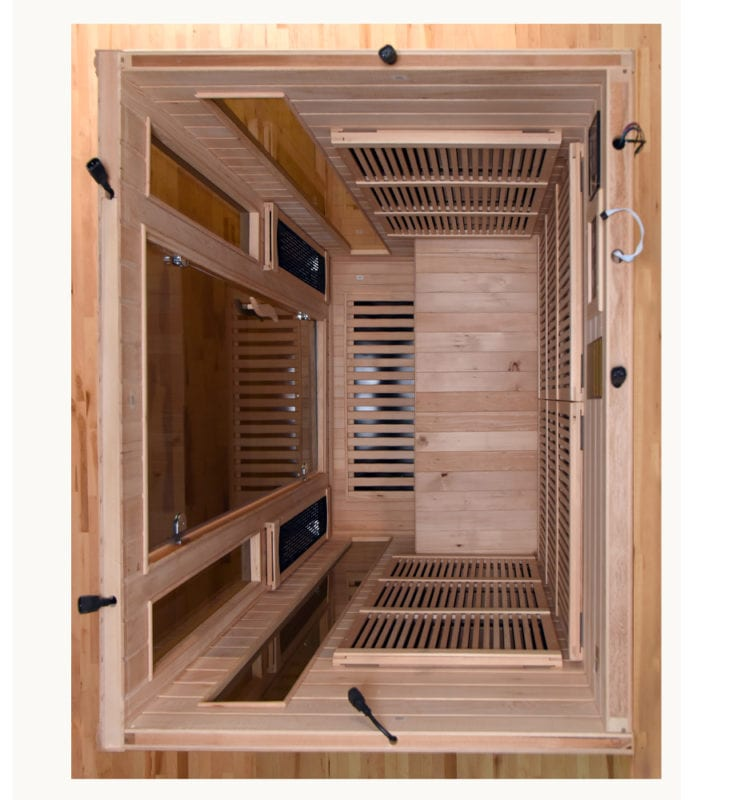 GHS 2 Person Top View Lifestyle saunas