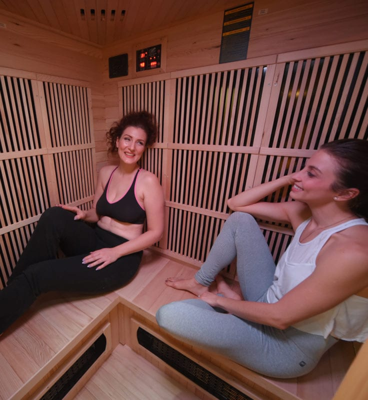 GHS 3 Person Corner Inside Lifestyle saunas