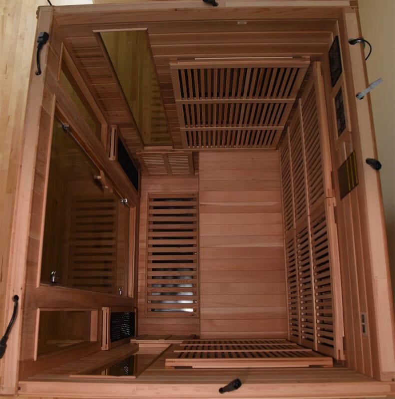 GHS 2 Person Infrared Sauna (20 amp) interior